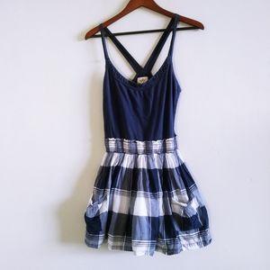 Hollister Woman Blue & White Mini Dress Medium